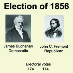 a review of the james buchanan and john fremont presidential election The contenders for the presidential election of 1856, the democrats nominated james buchanan and john breckenridge, the newly formed republican party nominated john fremont and william drayton, the american [or know-nothing] party nominated former president millard fillmore and andrew donelson, and the abolition party nominated gerrit smith and samuel mcfarland.