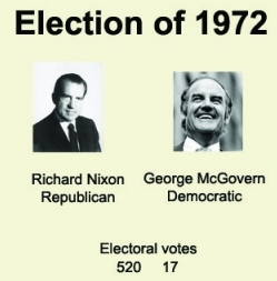 an overview of the presidential election of 1972 between richard nixon and george mcgovern