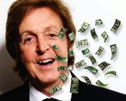 Image result for paul mccartney with money
